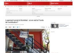 Radio Canada - Logement social - où en est le fonds de contribution?