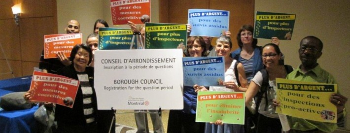 Au Conseil d'arondissement / At a Borough council meeting