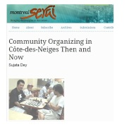 Montreal Serai - Community organizing in CDN Then and Now