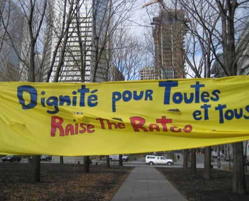 Dignité pour toutes et tous / Raise the rates