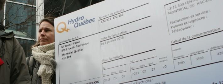 Contre les hausses de Hydro Québec / Against Hydro increases