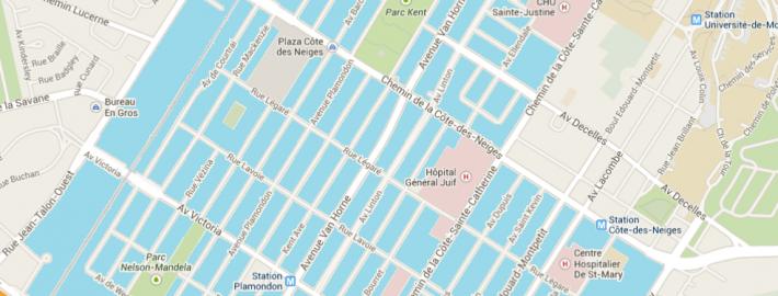 Carte de la zone d'intervention Càd / HAS service area map