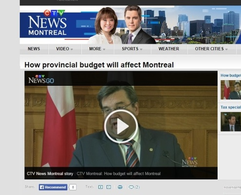 CTV news - How provincial budget will affect Montreal