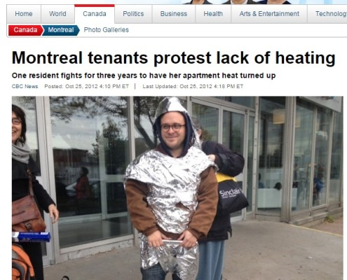 CBC News - Montreal tenants protest lack of heating