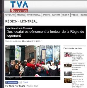 TVA nouvelles - Des locataires dénoncent la lenteur de la Régie du logement