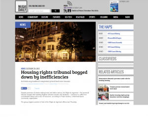 McGill Daily - Housing rights tribunal bogged down by inefficiencies