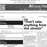 Les Actualites - Bedbugs - Don't take anything from the streets