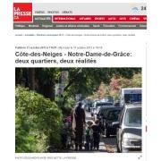 La Presse - CDN-NDG ; 2 quartiers, 2 réalités