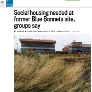 Montreal Gazette - Social housing needed at former Blue Bonnets site, groups say