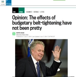 Montreal Gazette - Opinion: The effects of budgetary belt-tightening have not been pretty