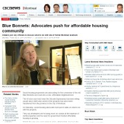 CBC news - Blue Bonnets: Advocates push for affordable housing community