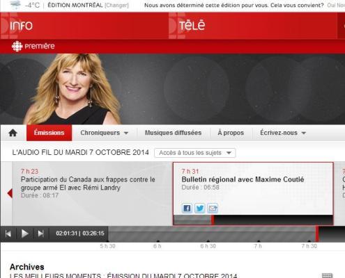 Radio Canada - Problèmes dans le développement du site de l'ancien Hippodrome