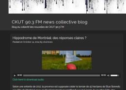 CKUT - Hippodrome de Montréal : des réponses claires ?