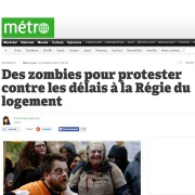 Zombies protest delays at the Rental Board / Des zombies pour protester contre les délais à la Régie du logement