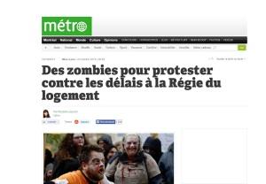 Zombies protest delays at the Rental Board / Des zombies pour protester contre les délais à la Régie du logement