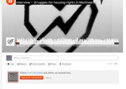 Free city radio - Struggles for housing rights in Montreal