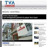 TVA - Les immigrants peinent à payer leur loyer