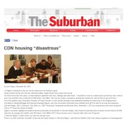 The Suburban - CDN housing disastrous