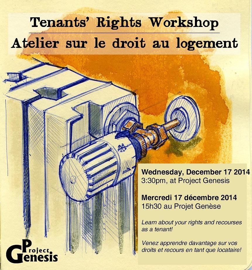 Atelier sur le droit des locataires / Tenants' rights workshop