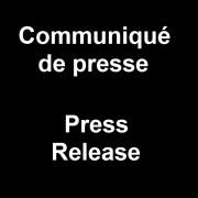 Communiqué de presse / Press Release