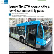Gazette - Letter: The STM should offer a low-income monthly pass