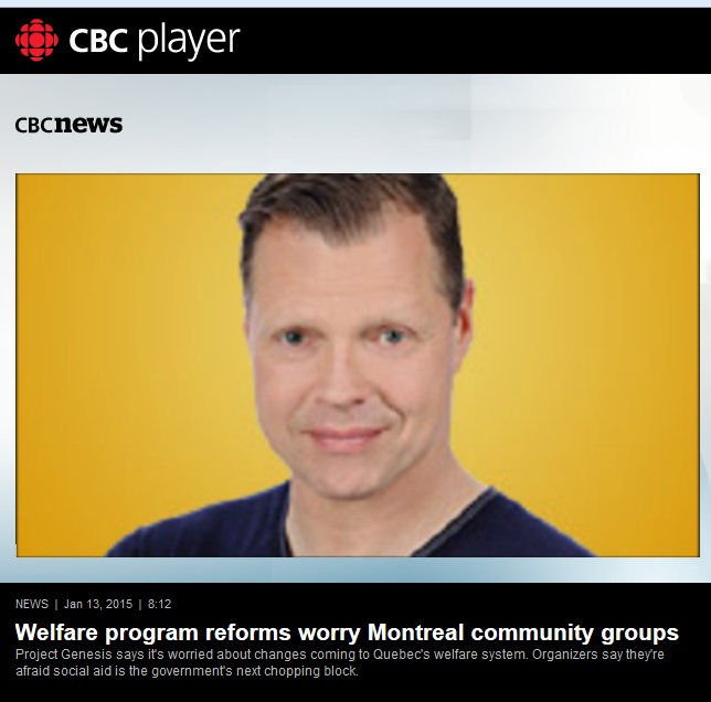 CBC News - Welfare program reforms worry Montreal community groups