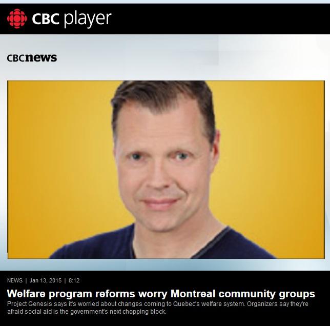 CBC News - Welfare program reforms worry Montreal community groups
