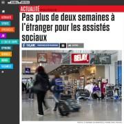 Journal de Montréal - Pas plus de deux semaines à l'étranger pour les assistés sociaux