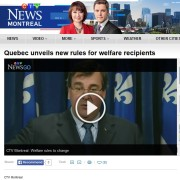 CTV News - Quebec unveils new rules for welfare recipients