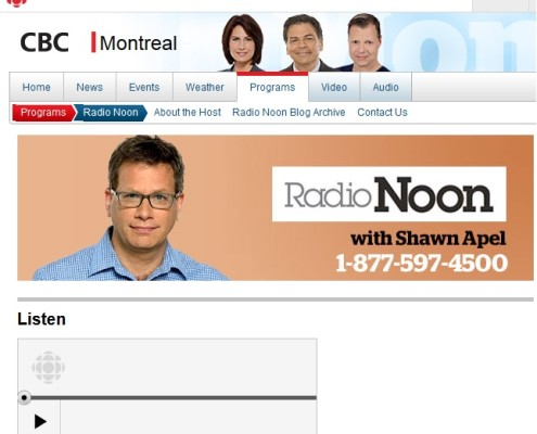 CBC Radio Noon