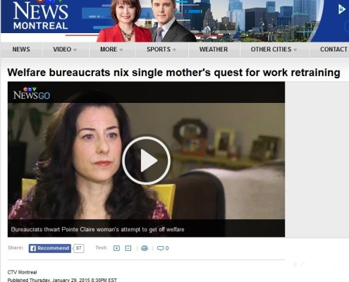 CTV News - welfare bureaucrats nix single mothers quest for work retraining