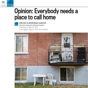 Gazette - Opinion: Everybody needs a place to call home