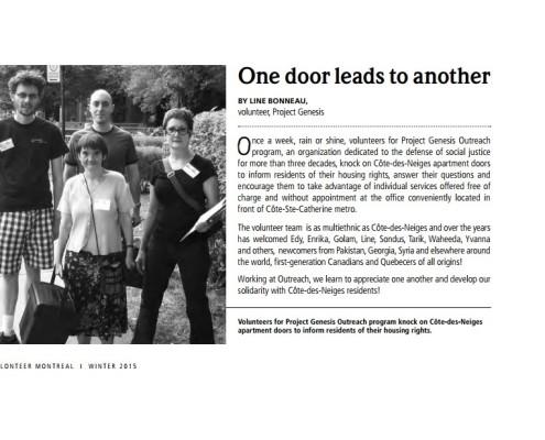 2014-12 Volunteer Montreal - One door leads to another