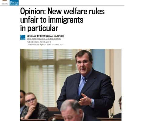 Gazette - Opinion: New welfare rules unfair to immigrants in particular