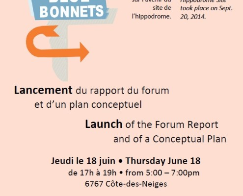 Lancement du rapport et plan conceptuel / Launch of report and conceptual plan